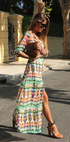 Street Style Chic. Boho dress. For more followwww.pinterest.com/ninayayand stay positively #inspired