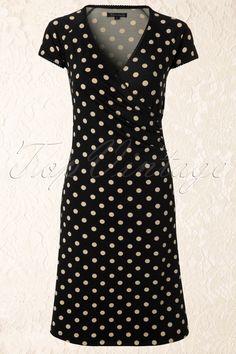 King Louie - 50s Polkadot Cross Dress in Black My oldtime favourite