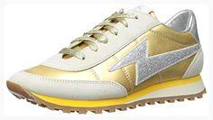 Marc Jacobs Women's Astor Lightning Bolt Fashion Sneaker, Gold, 37 EU/7 M US (*Partner Link)
