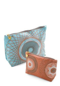 Swirl Talk Toiletry Bag Set, #ModCloth