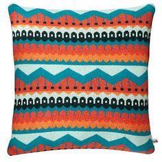 Buy Donna Wilson Hofdi Cushion, Red / Orange / Teal Online at johnlewis.com