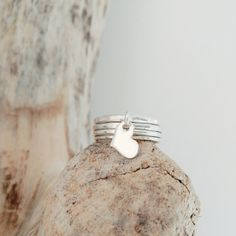 Necklaces For Girlfriends Our dainty floating heart ring getting cozy with our silver stacking bands. Cheap Silver Rings, Silver Stacking Rings, Silver Bangle Bracelets, Silver Necklaces, Silver Earrings, Dainty Jewelry, Sterling Silver Jewelry, Dainty Ring, Diamond Jewelry