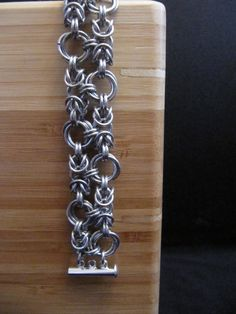 Silver Chainmaille Bracelet Chain maille by MischiefOfMice on Etsy, $35.00