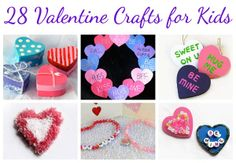 28 Valentine's Day Crafts for kids - so many cute ideas!