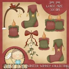 Winter Wishes 2 - Primsy Doodle Designs Clip Art Download
