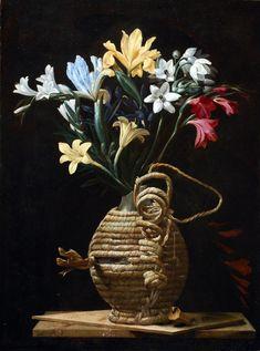 Maestro della fiasca di Forlì - Fiasca spagliata con fiori - 1615-1620 - Roma, collezione privata