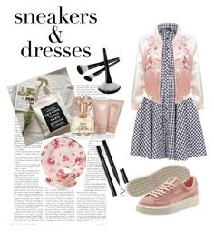 """""""Sneakers and Dresses"""" by olijars ❤ liked on Polyvore featuring Royal Albert, Izabel London, LE3NO and Vince Camuto"""