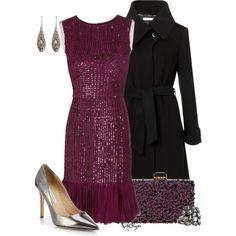 """""""Oscar de la Renta Silk Sequin Dress"""" by kginger on Polyvore"""