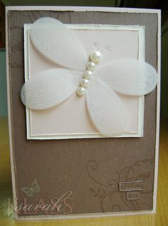 Buttery Card Pick a Petal Some Cards, Get Well Cards, Baptism Cards, Christening Card, Scrapbook Cards, Scrapbooking, Envelopes, Butterfly Crafts, Beautiful Handmade Cards