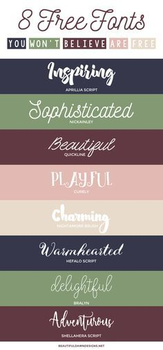 Heres a roundup of 8 free fonts that you wont believe are free. The best part is that a lot of them can be used for personal and commercial projects. via Tiffany Griffin Silhouette Cameo, Silhouette Fonts, Polices Cricut, Blog Fonts, Typographie Fonts, Fancy Fonts, Web Design, Graphic Design, Graphics