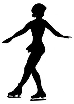 Amazon.com - Exercise Wall Decals Ice Skating Silhouette - 2 - 12 inches x 8 inches - Peel and Stick Removable Graphic - Wall Decor Stickers...
