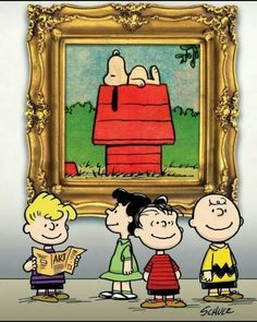 Schulz - Peanuts gang at an art museum -- Snoopy is fine art ! Snoopy Christmas, Charlie Brown Christmas, Charlie Brown And Snoopy, Peanuts Cartoon, Peanuts Snoopy, Peanuts By Schulz, Meu Amigo Charlie Brown, Snoopy Toys, Baby Snoopy