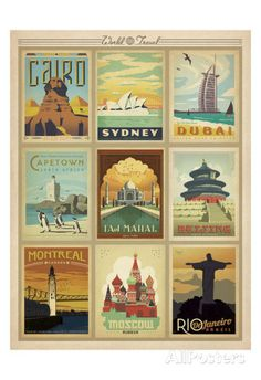 World Travel Multi Print II Posters by Anderson Design Group at AllPosters.com