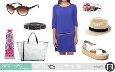 The Cobalt blue tunic dress takes centre stage! Daily Weather, Center Stage, Centre, Fashion Forecasting, Cape Town, November, Cobalt Blue, My Style, Tunic