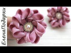 Diy Ribbon Flowers, Ribbon Hair Bows, Diy Hair Bows, Diy Bow, Ribbon Work, Ribbon Crafts, Fabric Flowers, Homemade Bows, Smocking Tutorial