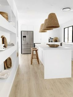 Rattan, Beach Kitchens, Boxing Day, School Holidays, Happy Saturday, Tile Floor, Beach House, House Design, Flooring
