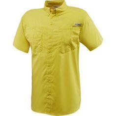 Columbia Sportswear Men's Tamiami II Shirt (Yellow Dark 02, Size Medium) - Men's Outdoor Apparel, Men's Fishing Tops at Academy Sports