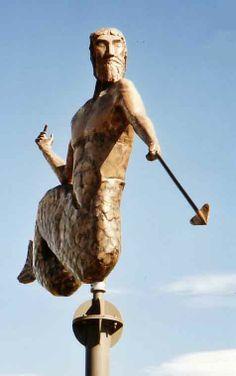 Sculpture of Mythical Greek God cool