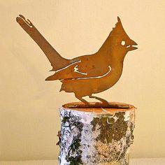 Elegant Garden Design Cardinal Bird Silhouette Shipping is Free Garden Art, Garden Design, Wooden Bird Feeders, Plasma Cutter Art, Metal Art Projects, Cnc Projects, Metal Yard Art, Cardinal Birds, Metal Birds