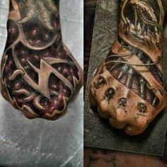 hands | biomechanical tattoos | egodesigns