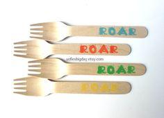 Dinosaur forks-25 dinosaur spoons-Dinosaur by SofiesBigDay on Etsy