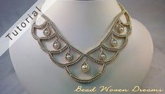 Amira Necklace Tutorial by BeadWovenDreams on Etsy Wing Necklace, Seed Bead Necklace, Ball Necklace, Seed Bead Jewelry, Bead Jewellery, Bead Earrings, Beaded Necklace, Beaded Bracelets, Seed Beads