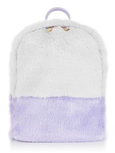 It's so fluffy I'm gonna die! Our Lilac/Grey Backpack certainly makes that super chic statement and is the absolute perfect size to hold all your daily essentials! It's totally on trend too, bonus!     Material: Faux Fur Dimensions:  W: 28cm H: 33cm D: 13cm