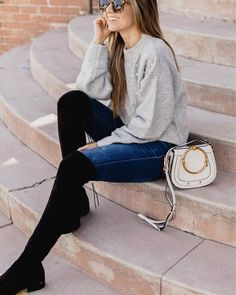 Guys, I just found these OTK boots stocked in almost every size and on sale for under $100! Also this sweater sold out SO fast  but I linked a few other pearl embellished sweaters. All the outfit details are here: http://liketk.it/2sYdc or on the blog under my Shop My Instagram tab  #merrickstyle #otk #boots #salealert #liketkit @liketoknow.it