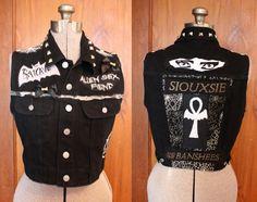 DIY Trad Goth Deathrock upcycled black Dark Punk by CoffinKitsch, $80.00  Coffin Kitsch's DIY jackets are the best.
