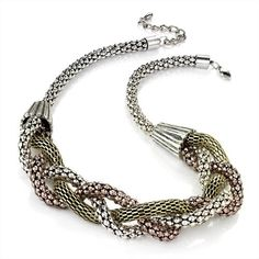 Minerva Collection Plaited Chainmail Fashion Necklace Burnt Gold & Copper & Silver by Minerva Collection, http://www.amazon.co.uk/dp/B00AIRLM1G/ref=cm_sw_r_pi_dp_ci7Vqb05CTHYP