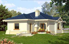 Wizualizacja FA Kometa CE Beautiful House Plans, Beautiful Homes, 2bhk House Plan, Best Modern House Design, Modern Bungalow House, Good House, Luxury Homes, Architecture Design, House Styles