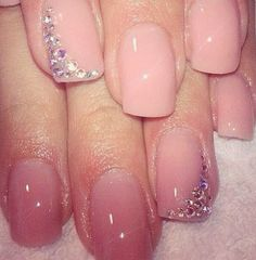 Wedding day manicure idea...extra being on the ring finger ♡♡