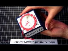 NEW from Stampin' Up!: Hamburger Shaker Box with Sea Street and Num-Num, Stamping to Share, Kay Kalthoff, How To Video, Maritime Designer Series Paper