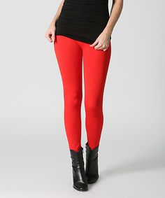 Another great find on #zulily! Red Seamless Leggings #zulilyfinds