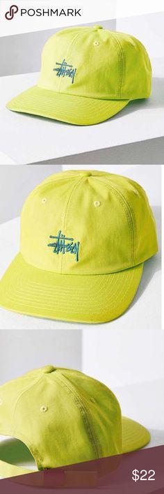 NWT Stussy Neon Classic Logo Snapback Hat Unisex. Brand new with tags. Neon yellowish/greenish. Smoke free pet friendly. Adjustable. Stussy Accessories Hats