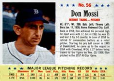 1963 Post Cereal Don Mossi Trading Card Database, Detroit Tigers, Trivia, Cereal, Let It Be, Baseball Cards, Quizes, Breakfast Cereal, Corn Flakes