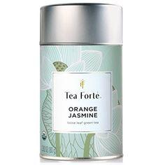 Tea Forte ORANGE JASMIN Organic Loose Leaf Green Tea, 3.5 Ounce Tea Tin - http://mygourmetgifts.com/tea-forte-orange-jasmin-organic-loose-leaf-green-tea-3-5-ounce-tea-tin/