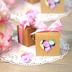 Candy HEARTS favor box for Bridal / Baby Showers or any special occasion