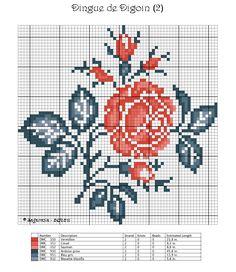 rose digoin .free Chart - grille gratuite sagarroia