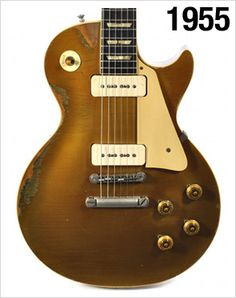 1955 Gibson Les Paul Gold Top............ amo estas guitarras!!!!