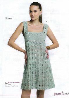 Kosturovoy Dress free crochet graph pattern | Crochet Women's ...