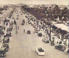 Rimini 1930 circa Lungomare verso Riccione.