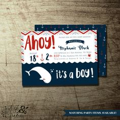 ahoy itu0027s a boy baby shower nautical theme red and navy blue baby shower