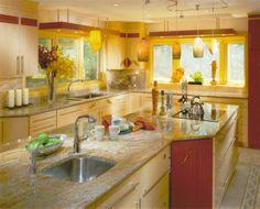[ Yellow Kitchen Arrangement Pictures Modern Yellow Kitchens Gallery Design Ideas ] - Best Free Home Design Idea & Inspiration Yellow Kitchen Paint, Yellow Kitchen Designs, Colorful Kitchen Decor, Modern Kitchen Design, Kitchen Colors, Kitchen Ideas, Bathroom Yellow, Bright Kitchens, Cool Kitchens