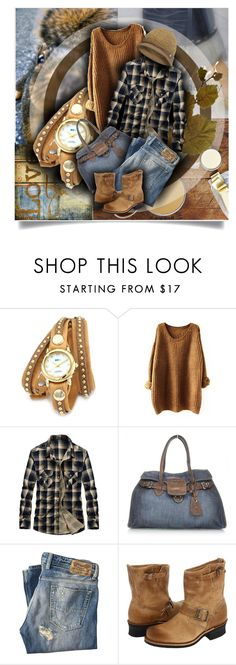 """Senza titolo #6033"" by doradabrowska ❤ liked on Polyvore featuring Therapy, Cynthia H Designs, La Mer, Miu Miu, Diesel, Frye and The North Face"