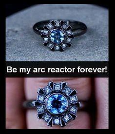 My something blue for my wedding was an Arc Reactor wedding
