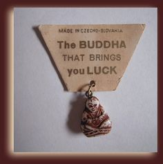 Vintage Buddha  Good Luck Charm Cracker Jacks by MDHcrafts on Etsy