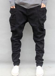 Mens Korean Big Pockets Harem Pants Loose Skateboard Hip Hop Dance Trousers Y6 #Unbranded #HipHop