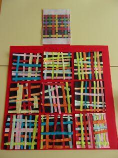 Travail sur les lignes et le découpage d'après l'oeuvre d'Alberto Cont: Les enfants sont par 2. J'ai préparé plein de feuilles reprographiées de toutes les couleurs sur lesquelles j'ai tracé des lignes. Les enfants découpent sur les lignes et collent...