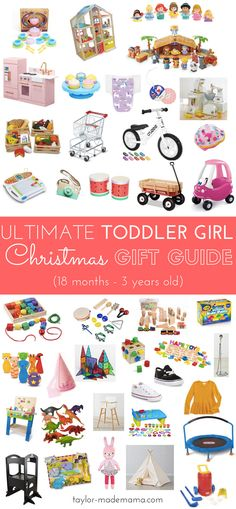 The Ultimate Toddler Girl Gift Guide! Developmentally appropriate toys that will grow with your tot! Gift ideas for your toddler. Toddler birthday presents. Christmas Presents For Toddlers, Toddler Christmas Gifts, Christmas Gift Guide, Holiday Gifts, Gifts For Kids, Toddler Presents, Santa Gifts, Holiday Time, Christmas Christmas
